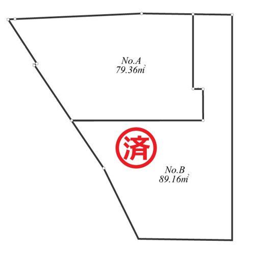 横浜市鶴見区東寺尾 区割図(成約済)