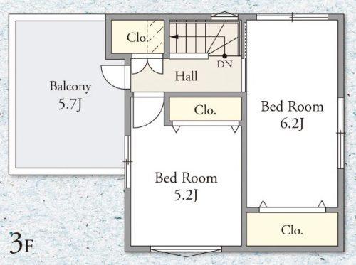茅ヶ崎市共恵 新築戸建 3階間取図