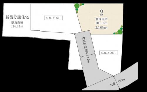 茅ヶ崎市共恵 区画図