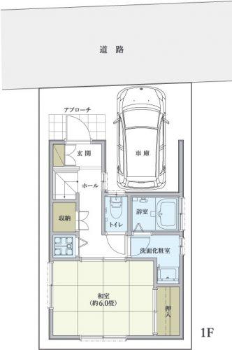 川崎市川崎区観音 1階間取図