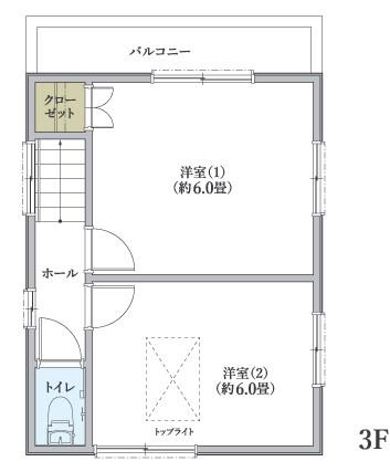 川崎市川崎区観音 3階間取図