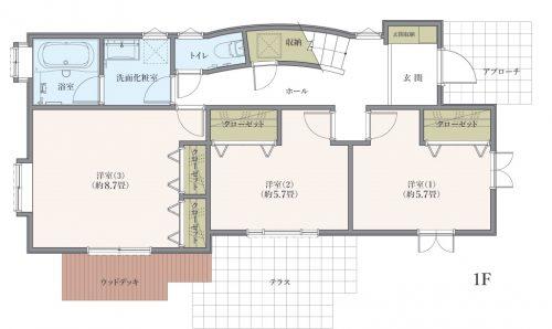 横浜市港北区菊名 間取図1階