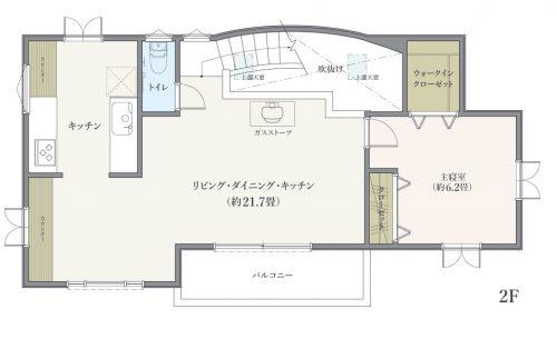 横浜市港北区菊名 間取図2階